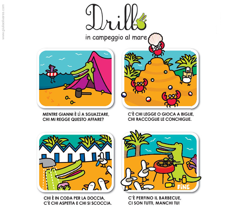 Drillo & Gianni Camping at the Seaside