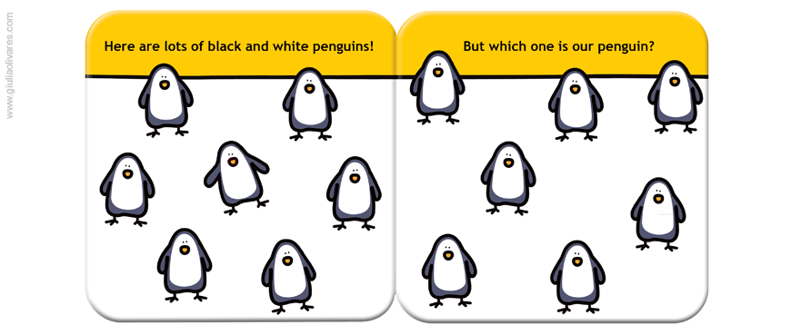 Black and White Penguin 03